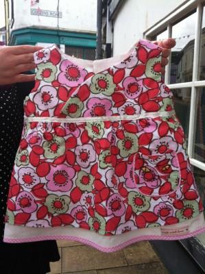 daisy print cotton baby dress