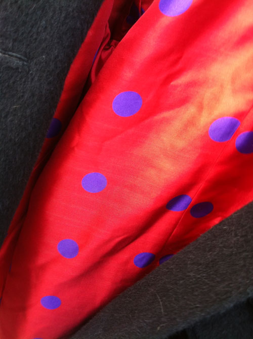 spotty laurent garigue twill lining