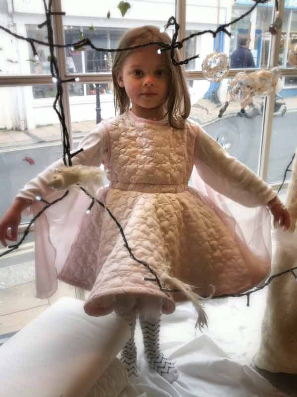 heart quilted poly fairy dress