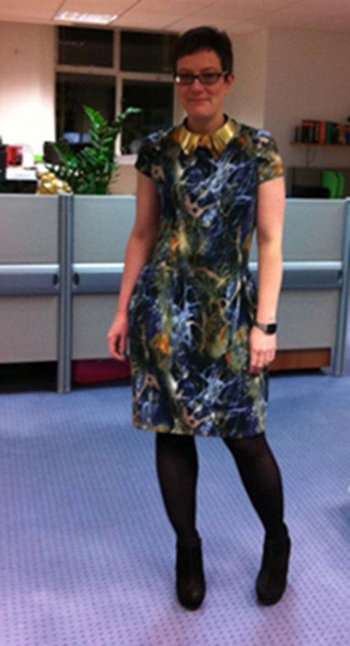 drape-drape digitally printed jersey dress