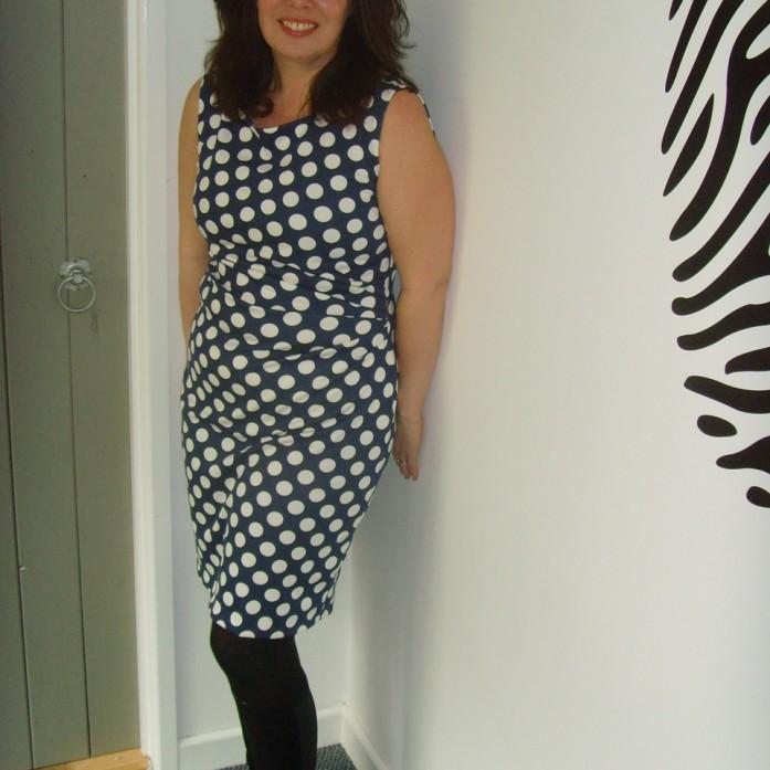 polka dot spotty ponte jersey dress