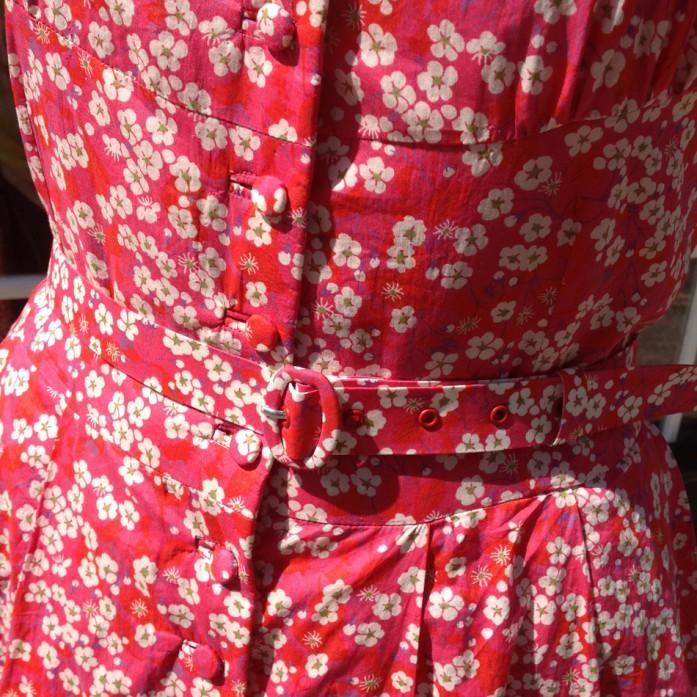 Liberty blossom print tana lawn cotton dress in Vintage Vogue pattern