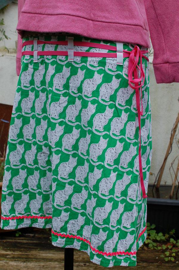 pussycat printed cotton poplin
