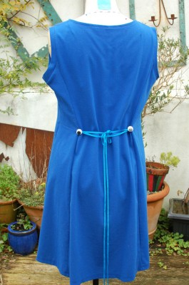 stretch crepe dress with wiggly eyes