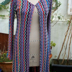 Missoni knit long cardigan