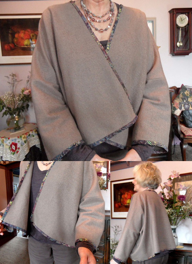 taupe boiled wool jacket