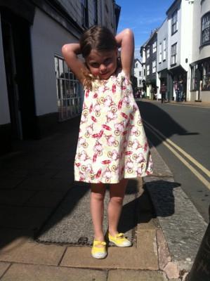 Tina Givens unicycle print cotton