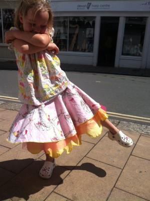 Tina Givens printed Cotton circular skirt