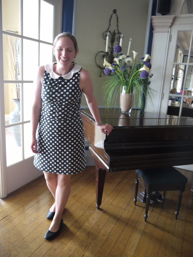 polka dot ponte roma jersey dress