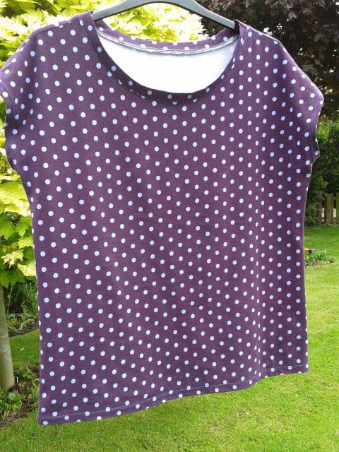 Aubergine spotty jersey T-Shirt