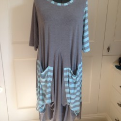 grey viscose jersey dress