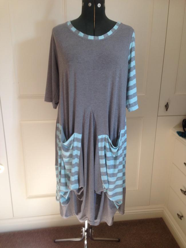 grey viscose jersey dress