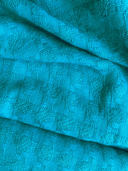 turquoise 100% wool Linton Tweed