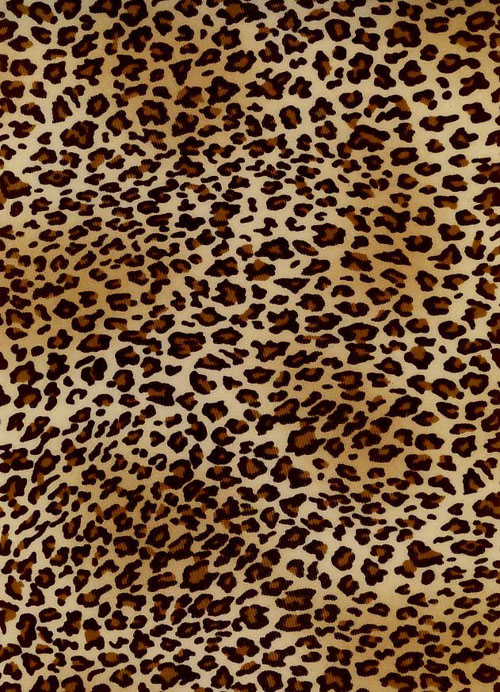 polyester leopard print jersey