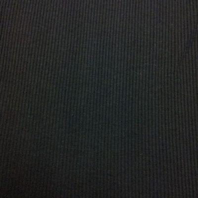 2347 black Egyptian cotton rib jersey
