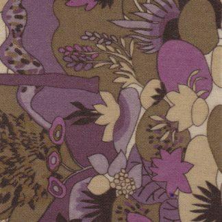 2672 floral print lightweight wool tweed