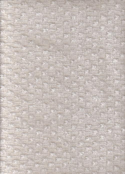 winter white wool cotton and viscose mix bobble boucle heavy knit jersey