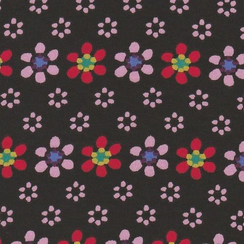 floral printed organic cotton interlock jersey