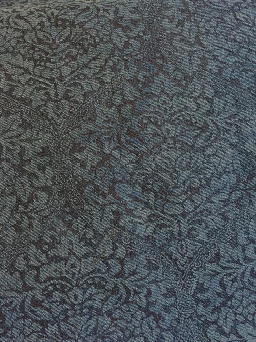 rococo print stretch denim