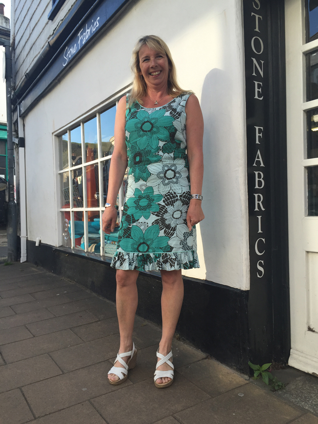 viscose and ramie John Kaldor printed dress