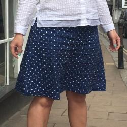 hand painted spotty Irish linen skirt