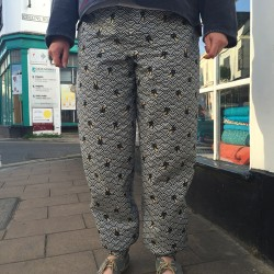 japanese printed cotton trousers