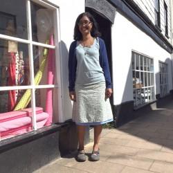 Reversible A-line cotton lawn skirt