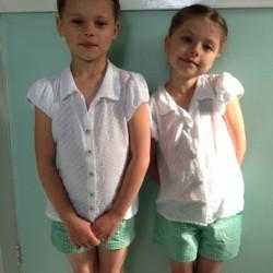 dobby cotton school blouses