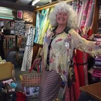 hand sewn Alice in Wonderland silk shirt