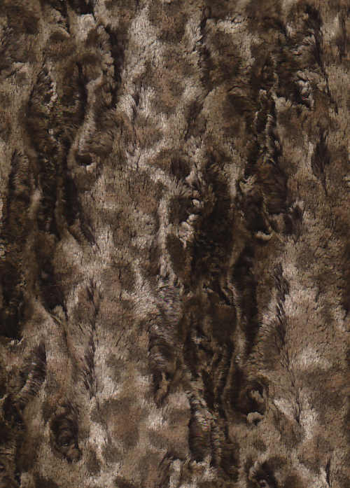 brown cheetah spot supersoft faux fur jacket