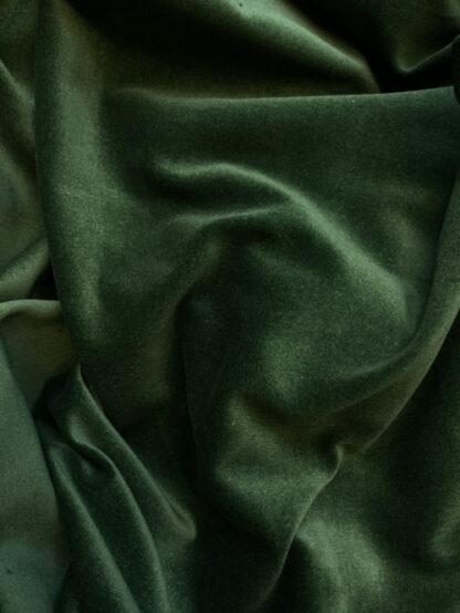 Bottle Green 100% Cotton lightweight (225gsm) Velvet