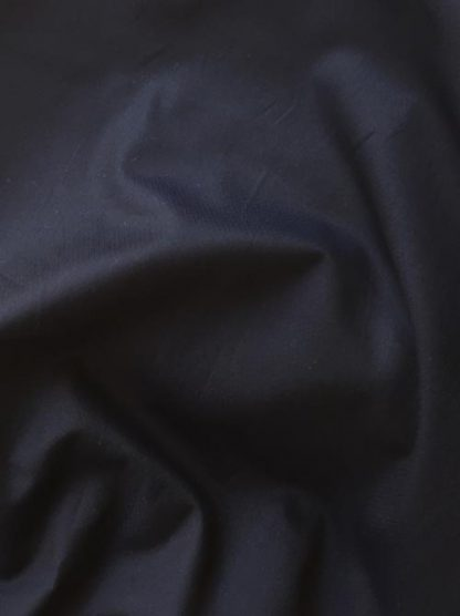 navy jacquard weave fine cotton shirting