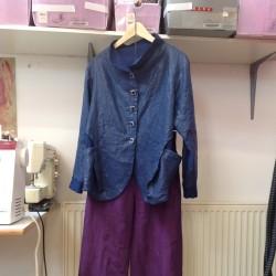 plasticised linen jacket
