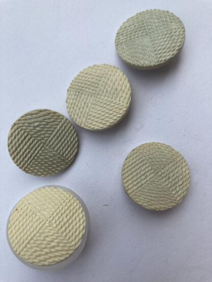 eau de nil cream textured vintage plastic shank button