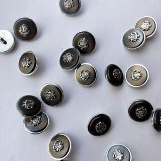metal crest shank blaser button
