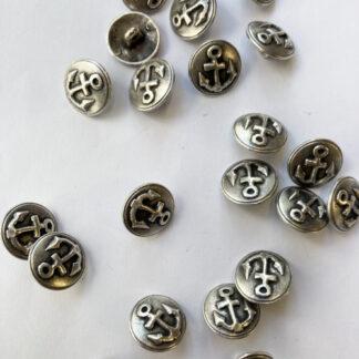 Silver anchor shank button