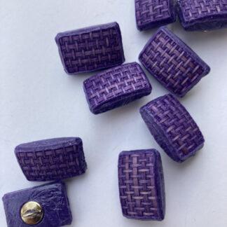 purple raffia effect vintage plastic shank button