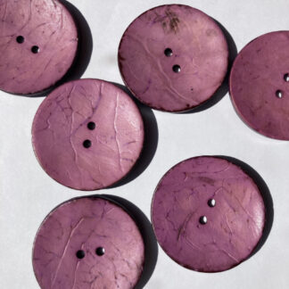 Clover Pink painted Coconut statement button