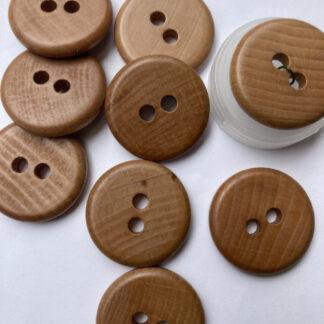 Light Tan 2 hole wooden button