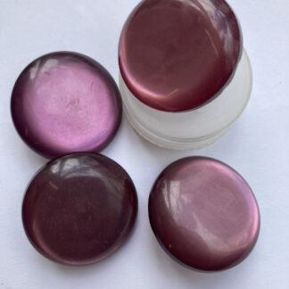 Mauve Purple opalescent vintage plastic shank button