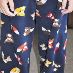 fox print cotton and elastane jersey