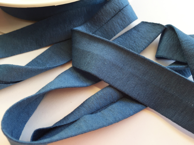 Denim Blue Jersey Bias Binding