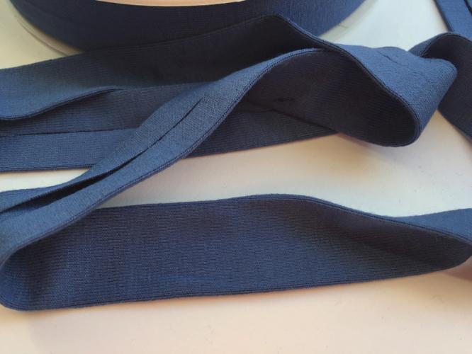 Dark Blue Jersey Bias Binding