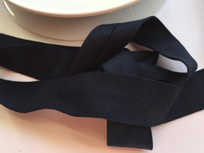 Dark Navy Blue Jersey Bias Binding