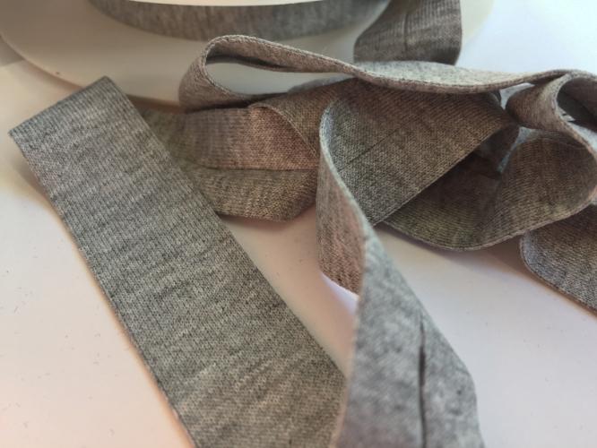Light Grey Marl Jersey Bias Binding