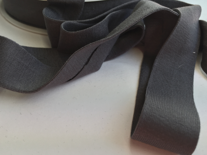 Dark Grey Jersey Bias Binding