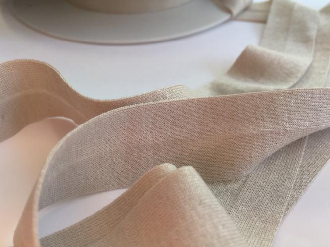 H0065-40 Oatmeal Jersey Bias Binding