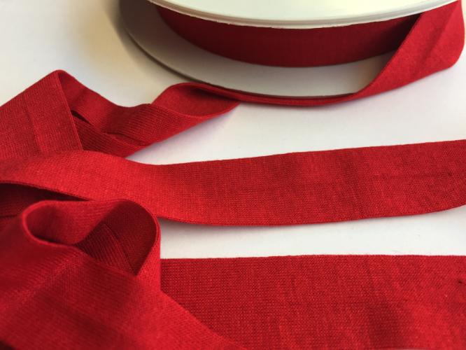 Deep Red Jersey Bias Binding