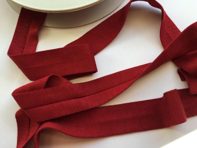 Burgundy Jersey Bias Binding