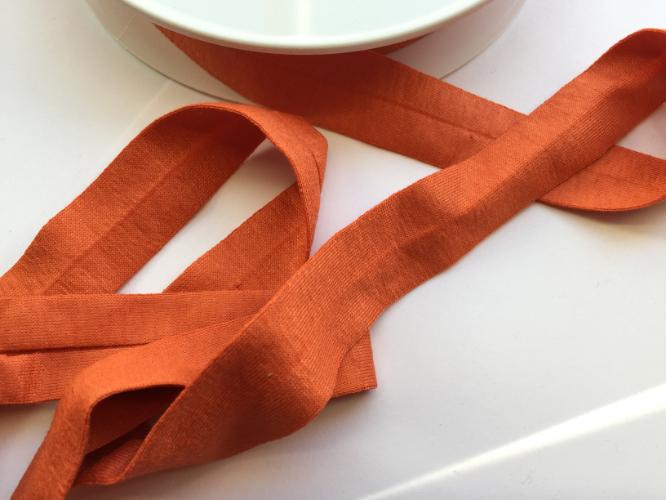 Orange Jersey Bias Binding